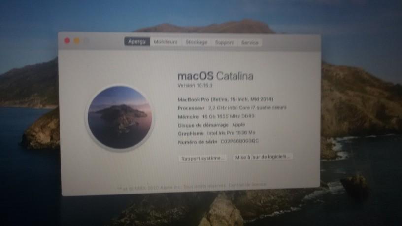 Macbook pro i7 retina 2014 photo 0