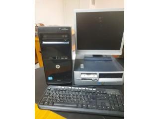 VENTE 2 PC DE BUREAU COMPLET DE MARQUE HP