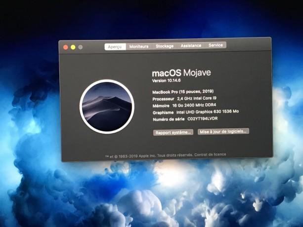 Macbook Pro 15 i9 2.4Ghz 2019 photo 3